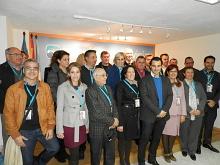 Comité ejecutivo electo con el Presidente Local del PP (Foto Archivo)