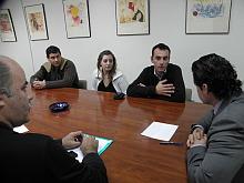 Un momento de la Reunión con la firma AKI