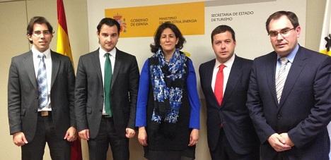 Eduardo Dolón con Isabel Borego y el diputado provicial  y el concal, ambos de Tusimo