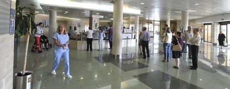 Hall de entrada al Hospìtal Quirón de Torrevieja
