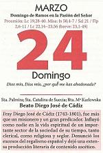 HOJAS CALENDARIO FIN DE SEMANA .24 MAR