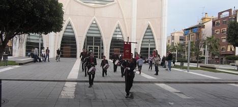 La Legio Hispanis, el pasado sábado en la explanadas del Templo del Sagrado Corazón
