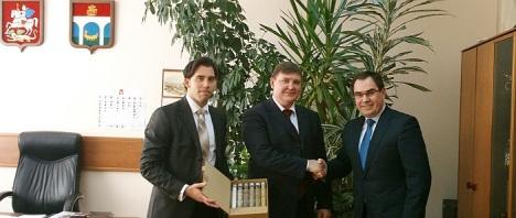 Luis María Pizana y Joaquín Albaladejo en Moscú