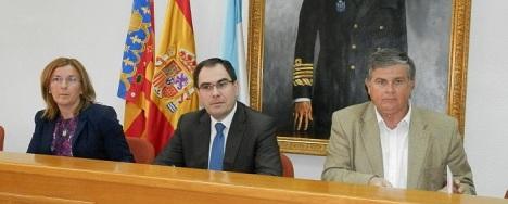 Agustina Esteve, Joaquín Albaladejo y Eduardo Gil Rebollo