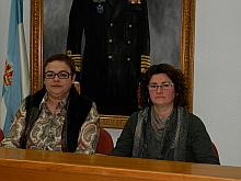 Carmen Gómez y Lola Sánchez,  ayer en rueda de prensa