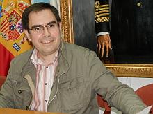 Joaquín Albaladejo , ayer en la rueda de prensa