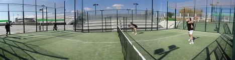 Pistas de padel, ubicadas en la zona de raquetas de la Ciudad Deportiva de Torrevieja