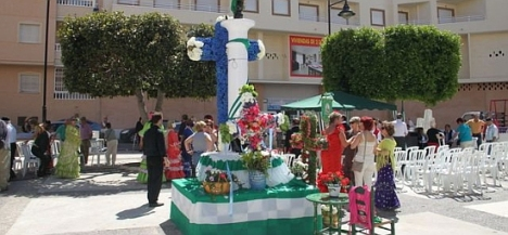 Cruces de mayo en Plaza el calvario en 2011