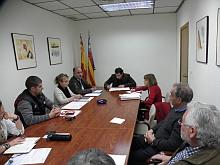 Comisión Afectados Hipoteca en una reunión