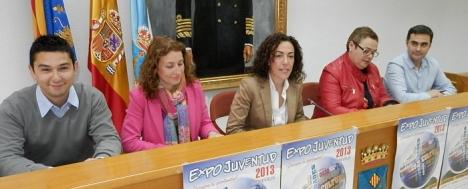 Los responsables de la Expo-Juventud el día de la presentación (Ver albúm)