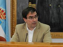 Joaquín Albaladejo, ayer en la rueda de prensa