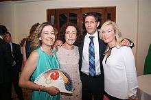 Gema Cruz, primera por la derecha, en la Cena del año 2012