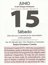 HOJA CALENDARIO 15 JUNIO