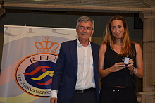Gemma Mengual, Insignia de Oro y Brillantes de la RFEN (Foto A. García)