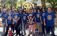 Algunos compenentes del Club Rotary presentes en la jornada