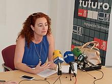 Fanny Serrano, ayer en rueda de prensa