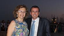 Encarna H. Torregrosa y Fernando Guardiola, anoche en las Eras de la Sal