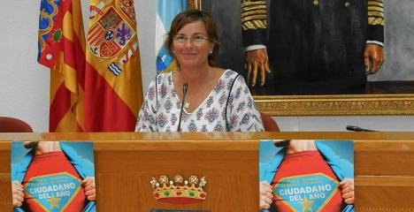 Agustina Esteve, ayer durante la presentación