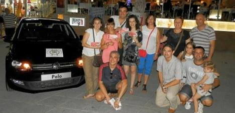 Miembros de la JMC, procionando el Festival (Noche de Habaneras en la Playa)