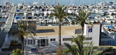 Vista aérea de la nueva Oficina de Turismo en el céntrico Paseo de Vista Alegre