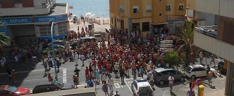 Manifestación los últimos días en el Barrio del Acequión