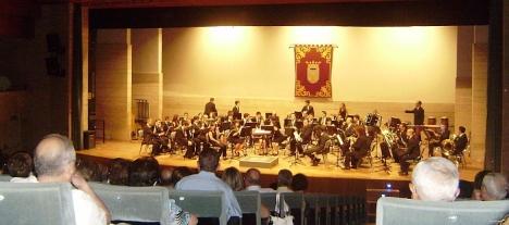 La Unión Muisical Torrevejense, durante su actuación