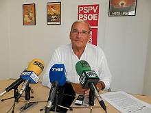 Ángel Sáez, portavoz del G.M. socialista