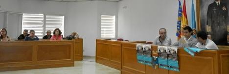 Salón de Plenos, ayer en la rueda de prensa de presentación del Plan