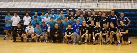 Instantánea del equipo islandes en el partido dispitado contra el Mare Nostrum
