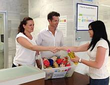 Recogida de alimentos, en el Hospital de Torrevieja