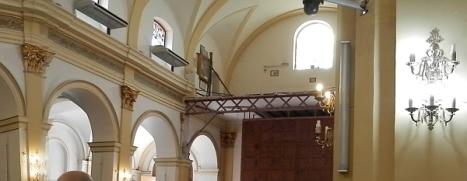 Coro de la Iglesia de la Inmacula ayer, en obras