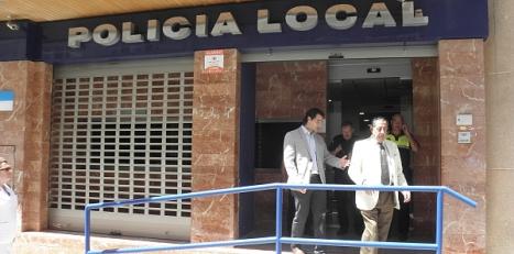 Imagen de las actuales dependencias de la Policía Local en la Calle Arquitecto Larramendi