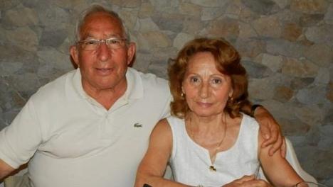 Salvador Hernández, junto a su esposa en uno de los múltiples actos organizados por la Asociación