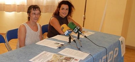 Loli Herrera y Alejandra Torres, ayer en la presentación del acto