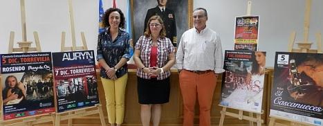 Martinez Chazarra, Lola Sánchez y Manuel Esteban Moreno, ayer finalizada la rueda de prensa