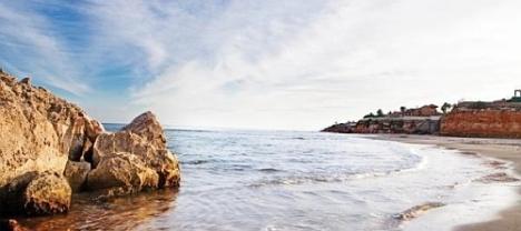 Playa de Cabo Roig, donde arribo la patera