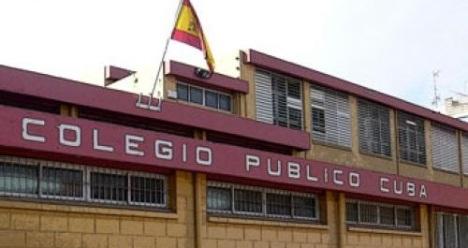 Fachada principal del Colegio Cuba
