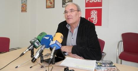 Ángel Sáez, ayer en rueda de prensa