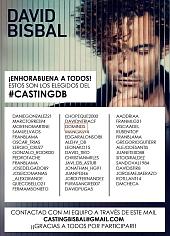 Parrila de los seleccionados del casting, donde se aprecia el nombre de Domingo