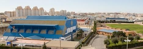 Vista de la Ciudad Deportiva.  Pabellón Cecilio Gallego en cuyo entorno se están realizando las mejoras