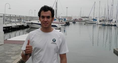 Daniel Cánovas, en el RCNT unos días antes de la partida