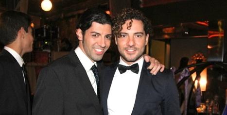 Domingo Sánchez, junto a David Bisbal, durante el rodaje del videoclip