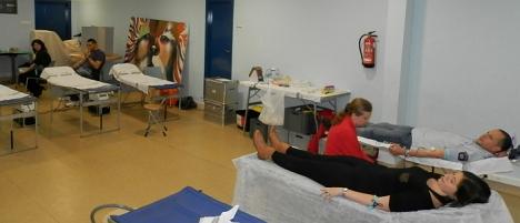 Donaciones de sangre el el CIAJ (Archivo)