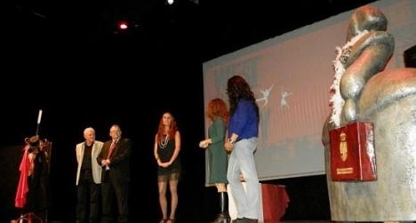 Momento de la IX Gala del Comercio de Torrevieja, celebrada en diciembre de 2012