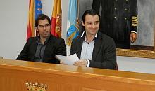 Eduardo DOlón y Luis Mar´ñia Pizana, durante la rueda de prensa de ayer