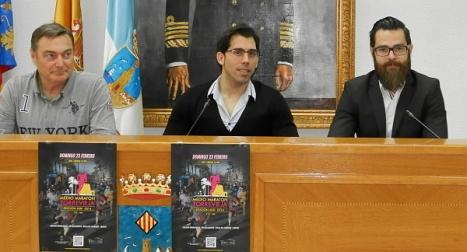 Momento de la rueda de prensa de presentación ayer en el Ayuntamiento