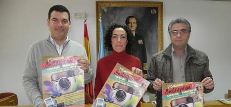 Gabriel Samper, Rosario Martínez y Julio Ruiz en la presentación del Concurso
