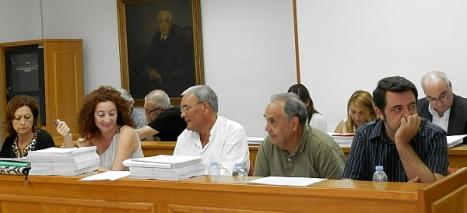 Grupo Municipal Socialista durante un pleno (Archivo)