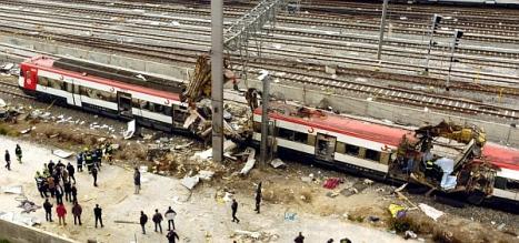 Los atentados el 11-M en Wikipedia, pinchando sobre la foto