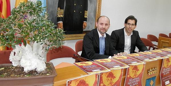 Luis María Pizana y Juan Carlos, durante la presentación de las Jornadas